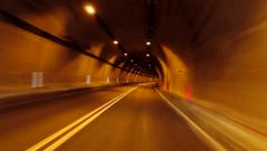 A tunnel like an endless curve - stock footage