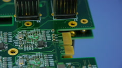 Spinning computer circuit board Stock Footage