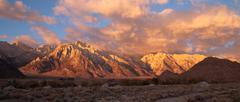 golden alpine sunrise alabama hills sierra nevada range california - stock photo