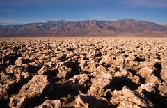 below sea level devil's golf course death valley national park - stock photo