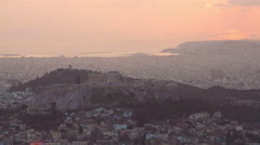 Time lapse of Acropolis and Athens city, Greece - stock footage