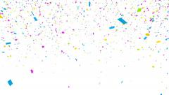 Colored confetti falling with aplha matte Stock Footage