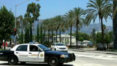 4K, UHD, Beverly Hills, Los Angeles Police Department, California, BlackMagic Stock Footage