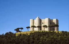 castel del monte, unesco heritage in the south of italy, apulia region - stock photo