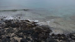 storm waves on the rocky shore - stock footage