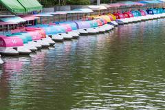 Amusement boat ride in public park Kuvituskuvat