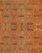 abstract patterns based on finely woven silk carpets - stock photo