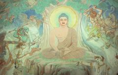 temptation of buddha - stock photo