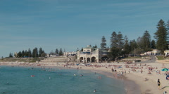 View of Cottesloe Beach in Perth, Western Australia Stock Footage