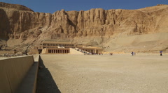 Ancient temple of Hatshepsut in Egypt Stock Footage