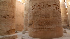 Columns in karnak temple in egypt Stock Footage