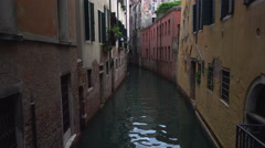 Venice Italy narrow dark canal 4K 027 Stock Footage