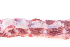 spare ribs raw isolated - stock photo