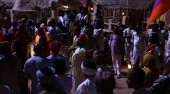 Village poor people Night Life in Disert Rajasthan India Stock Footage