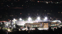 Timelapse starfilter of the historic 2015 Rose Bowl game Stock Footage