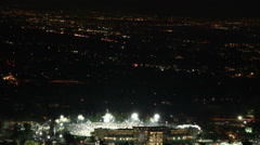 Timelapse of the 2015 Rose Bowl Game Finale with fireworks and crowd leaving - stock footage
