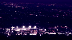 Time lapse clip of view above the 2015 Rose Bowl in Pasadena Stock Footage