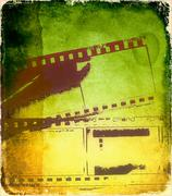 Grunge film strip background Stock Illustration