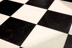 Black & white chequered floor Stock Illustration