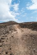 barren mountain track - stock photo