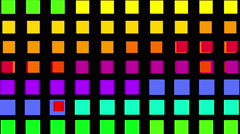 4k vj square neon light array matrix background&cube big data database backdrop Stock Footage