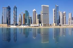 Stock Photo of view of dubai skyline