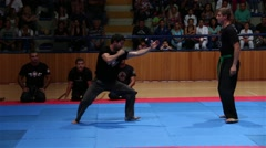 Ninjutsu Martial Arts Practicing Demonstration Takedowns Stock Footage
