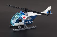 lego police helicopter with pilot - stock photo