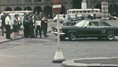 East Germany 1960's: street life in a medium sized city Stock Footage