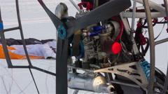 Job engine powered paragliding. Stock Footage