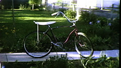 Schwinn Sting Ray Bicycle Bike Classic Vintage 1960s Film Home Movie 8091 Stock Footage