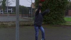 Basketball Bounce Stock Footage