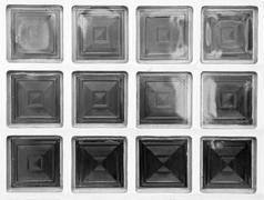 cubed glass window - stock photo