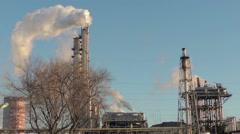 pipe smoke, oil refining (1) - stock footage