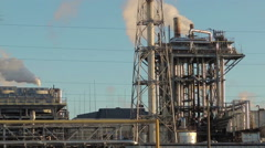 Stock Video Footage of pipe smoke, oil refining (3)