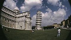 Pisa 1974: Piazza dei Miracoli Stock Footage
