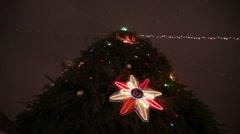 Illumination on Christmas tree Stock Footage