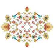 Stock Illustration of artistic ottoman pattern series thirty three