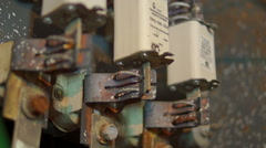 Rusty bolts fuses Stock Footage
