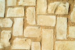 diagonal cobble stones - stock photo