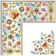 Stock Illustration of artistic ottoman pattern series twenty four