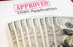 approved loan app - stock photo