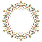 Artistic ottoman pattern series thirty Stock Illustration