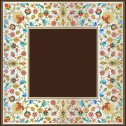 Artistic ottoman pattern series twenty seven Stock Illustration