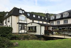 Hotel in Wicklow Mountains National Park. - stock photo
