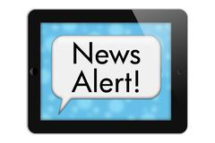 Stock Illustration of news alert
