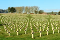 Cemetery world war one in france vimy la targette Stock Photos