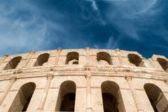 El djem amphitheater Stock Photos