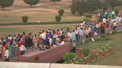 Bahai believers at Lotus Temple, New Delhi - stock footage