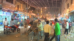 Paharganj Market in New Delhi, India Stock Footage